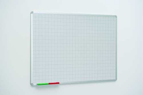 Spaceright 50mm Square Markings Writing White Boards - 900 x 600mm