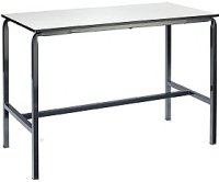 Metalliform Crush Bent H Frame School Craft/Laboratory Table With Trespa Top - 1200 x 600mm