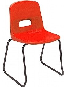 Hille GH20 Skidbase Chair With Flint Grey Frame