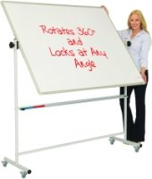 Magnetic Mobile Swivel Writing White Boards - 1500 x 1200mm