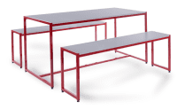 Monarch Medium Steel Frame Dining Table Set