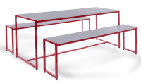 Monarch Large Steel Frame Dining Table Set