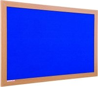 Spaceright Eco Friendly Wood Effect Framed Noticeboard - 1200 x 1200mm
