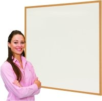 Eco Friendly Wood Effect Framed Writing White Boards - 900 x 600mm