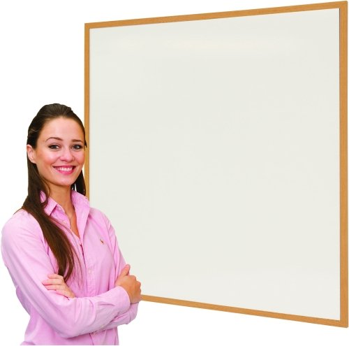 Eco Friendly Wood Effect Framed Writing White Boards - 1500 x 1200mm