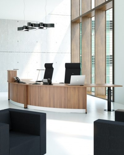 Elite Windsor -Bow Fronted Reception Desk