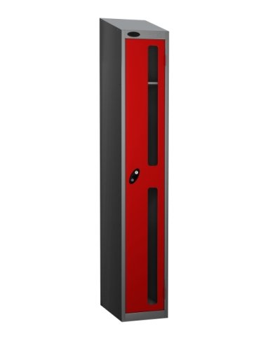 Probe Single Compartment Vision Panel Nest of Three Lockers - 1780 x 915 x 460mm