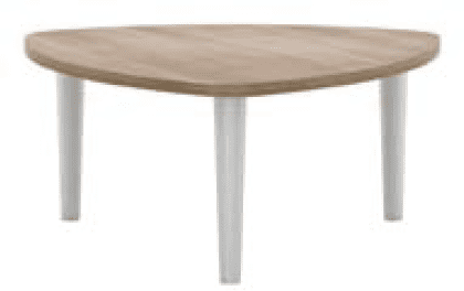 Elite Triangular Coffee Table Mfc Finish
