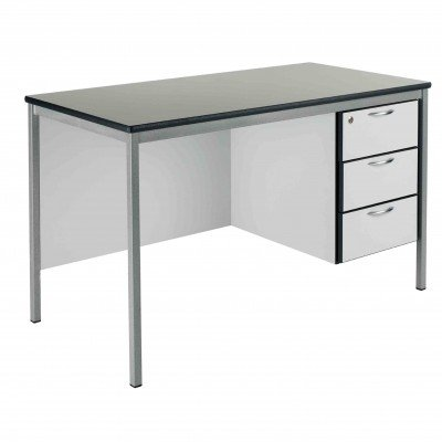 Metalliform Teachers 3 Drawer Fully Welded Frame Desk 1500mm x 750mm - MDF Edge