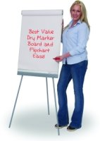 Spaceright Telescopic Flipchart Easel Non-Magnetic Writing White Boards