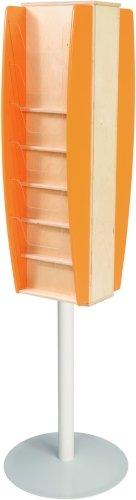 Spaceright Freestanding Wood Leaflet Dispensers 12 x A4 Size