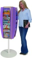 Spaceright Freestanding Wood Leaflet Dispensers 24 x A4 Size