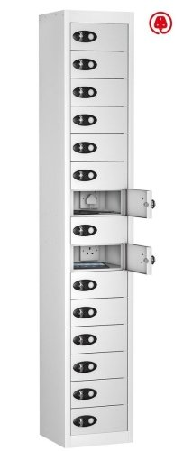 Probe TabBox 15 Compartment Locker With Standard Plug - 1780 x 305 x 370mm