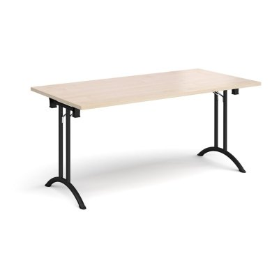 Dams Rectangular Folding Leg Table with Curved Foot Rails 1600 x 800mm