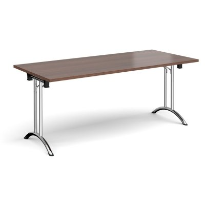 Dams Rectangular Folding Leg Table with Curved Foot Rails 1800 x 800mm