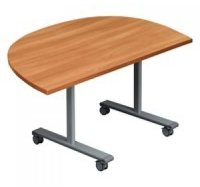 Gyrate Flip Top D-End Table