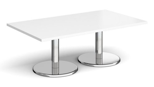 Dams Pisa Rectangular Coffee Table With Round Bases 1400 x 800mm