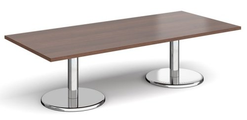 Dams Pisa Rectangular Coffee Table With Round Bases 1800 x 800mm