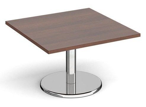 Dams Pisa Square Coffee Table With Round Base 800mm