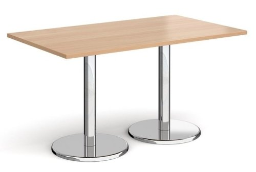 Dams Pisa Rectangular Dining Table With Round Bases 1400 x 800mm