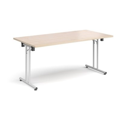 Dams Rectangular Folding Leg Table with Straight Foot Rails 1600 x 800mm