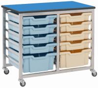Metalliform Mobile 8000 Double 12 Tray Storage Unit