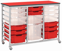 Metalliform Mobile 8000 Triple 24 Tray Storage Unit