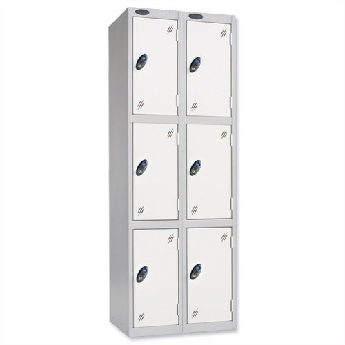 Probe Low Three Door Nest of Two Steel Lockers - 1210 x 305 x 460mm
