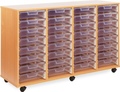 32 Clear Shallow Tray Unit