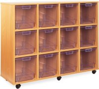 12 Clear Jumbo Tray Unit