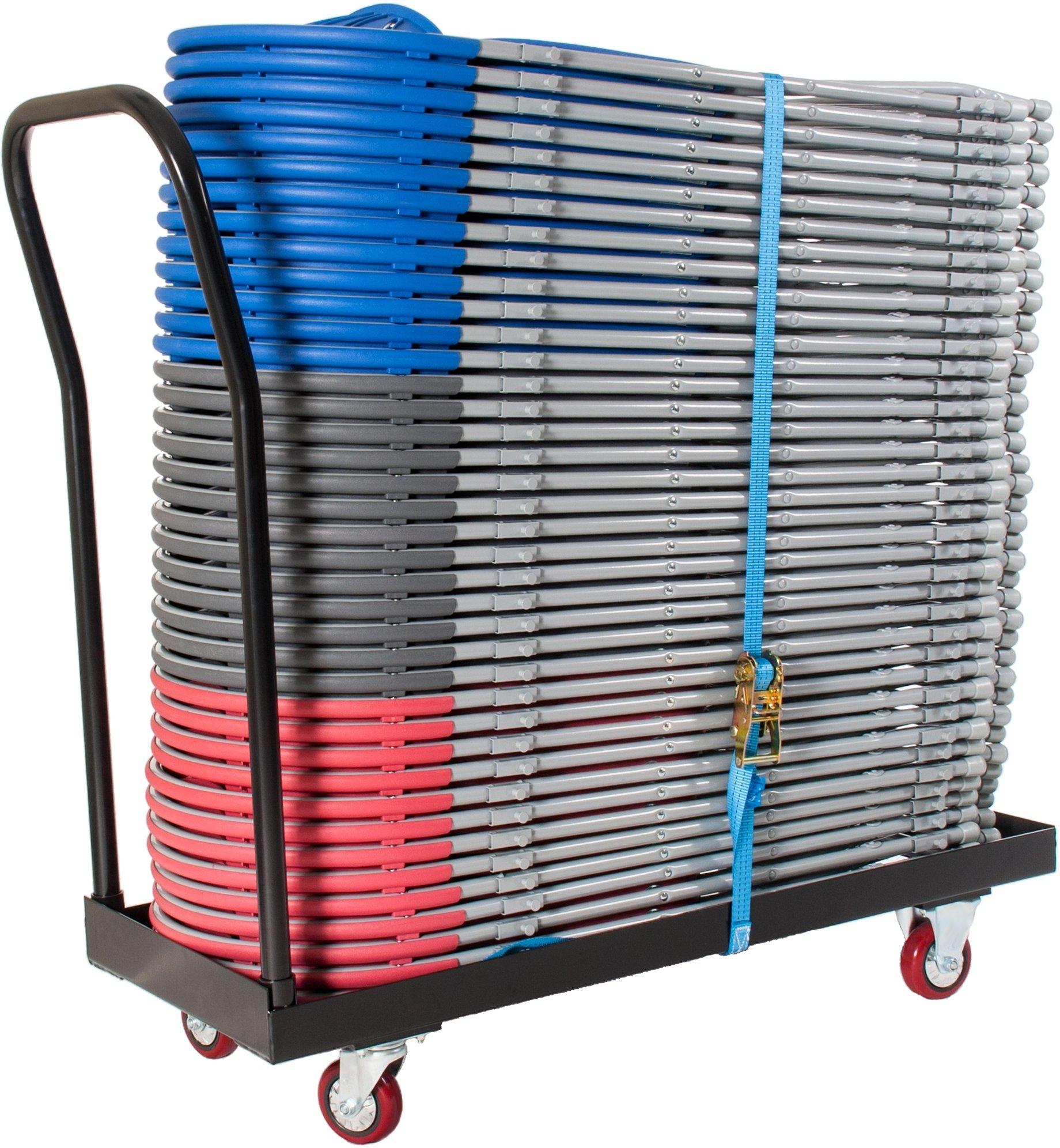 Zlite 40 Fan Back Folding Chair And Trolley Bundle