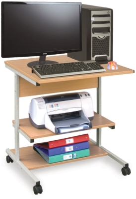 Computer Trolley - Small Budget Workstation