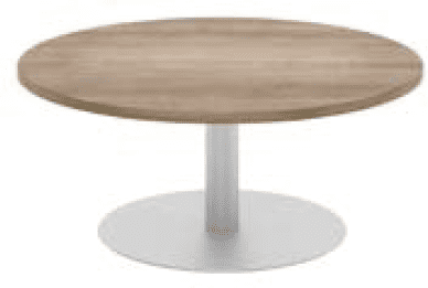 Elite Circular Coffee Table Veneer Finish - 1000mm