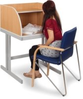 Study Booth With Cantilever Legs