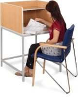 Study Booth With Straight Legs