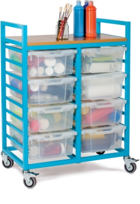 Art Trolley With 8 Deep Trays And Lids
