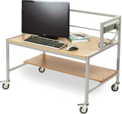 Computer Trolley - Single Tier Fixed Height