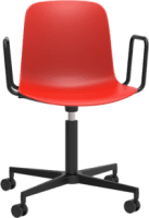 Origin FLUX Task Chair Black Aluminium 4 Star Base with Arms