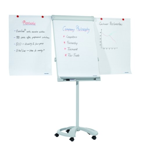 Gentoo Mobile Deluxe Magnetic Flipchart Easel with Extendable Arms