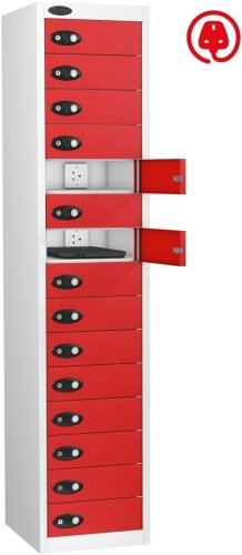 Probe LapBox 15 Compartment Locker With Charge Socket - 1780 x 380 x 525mm