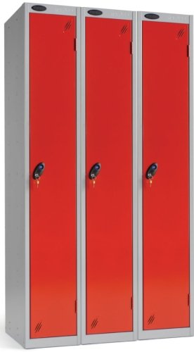 Probe Single Door Nest of 3 Steel Locker - 1780 x 1140 x 380mm
