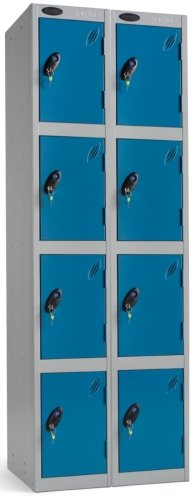 Probe 4 Door Nest of 2 Steel Lockers - 1780 x 760 x 380mm