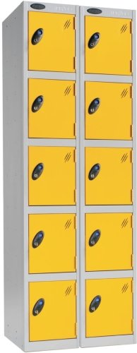 Probe Five Door Nest of 2 Steel Lockers - 1780 x 610 x 380mm