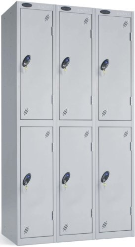 Probe Two Door Nest of 3 Steel Lockers - 1780 x 915 x 460mm