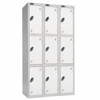 Probe Low Three Door Nest of Three Steel Lockers - 1210 x 305 x 460mm