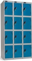 Probe 4 Door Nest of 3 Steel Lockers - 1780 x 1140 x 380mm
