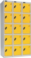 Probe Five Door Nest of 3 Steel Locker - 1780 x 915 x 460mm