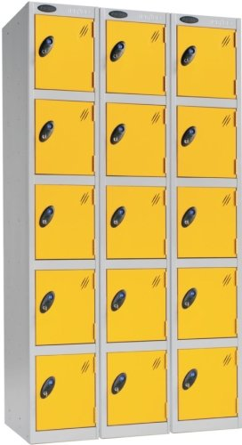 Probe Five Door Nest of 3 Steel Locker - 1780 x 915 x 380mm