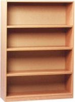 Monarch Open Bookcase With 1 Fixed and 2 Adjustable Shelves Height 1250mm