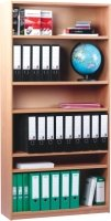 Monarch Open Bookcase With 1 Fixed and 4 Adjustable Shelves Height 1800mm